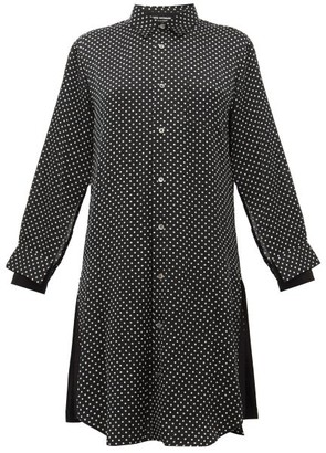 Junya Watanabe Polka Dot Satin Shirtdress - Womens - Black Multi
