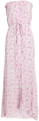 Sunday Saint Tropez Bonanga Strapless Floral Maxi Dress
