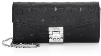 MCM Large Monogram Leather Wallet-On-Chain