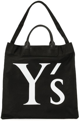 Y's Logo Canvas Shopping Tote