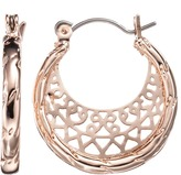 Lauren Conrad Filigree Hoop Earrings