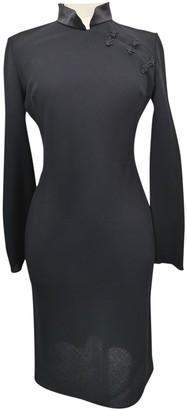 Galliano Black Wool Dress for Women Vintage
