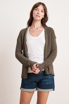 Velvet by Graham & Spencer Jaz Textured Tape Yarn Cardigan