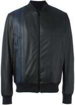 MSGM striped detail bomber jacket