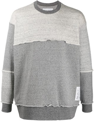Julien David Mottled Overlocked Sweatshirt