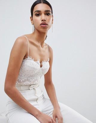 Rare London lace bodysuit in white