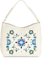 Nancy Gonzalez Laser-Cut Taj Mahal Crocodile Hobo Bag, Multi