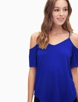 Splendid Rayon Jersey Cold Shoulder Top