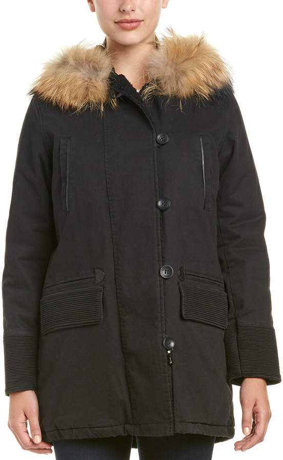 Maje Gaston Quilted Lined Coat