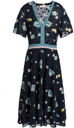BA&SH Floral-print Fil Coupe Dress