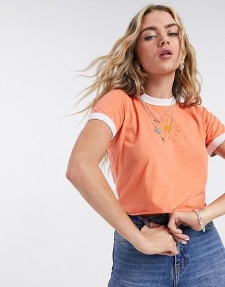 Topshop t-shirt in orange