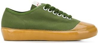 Marni dual-textured low-top sneakers