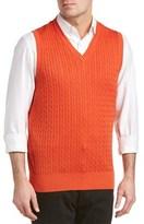 Belford Silk-blend Cableknit V-neck Vest.