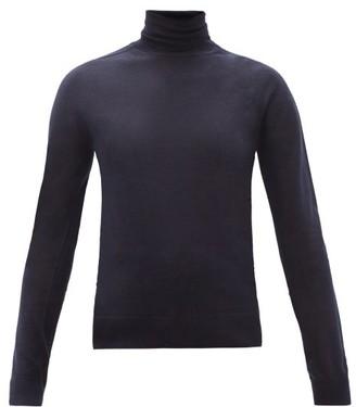 Jil Sander Roll-neck Cashmere-blend Sweater - Navy