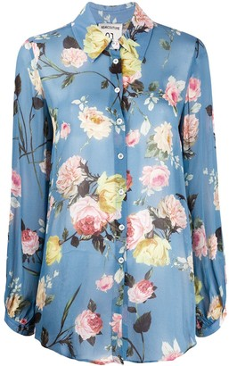 Semi-Couture Long-Sleeved Floral-Print Shirt