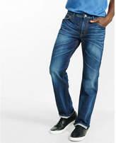 Express boot leg loose fit flex stretch dark wash jean