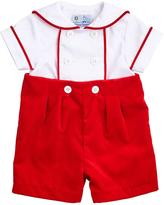 Florence Eiseman Two-Tone Twill Shirt w/ Shorts, Size 3-18 Months