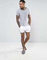 Asos Jersey Runner Short In White