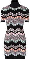 Missoni Zigzag Wool-blend Mini Dress - Black