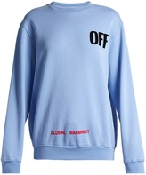 Off-White Round-neck logo-print cotton sweatshirt