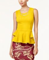 Thalia Sodi Peplum Necklace Top, Created for Macy's