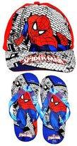 Marvel Spiderman Childrens/Kids Official Baseball Cap & Flip Flops Summer Gift Set