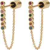 Ileana Makri Rainbow stone & yellow-gold earrings