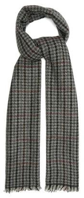Isabel Marant Dash Shepherd-check Wool-blend Twill Scarf - Grey