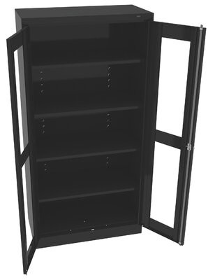 "Standard Welded Storage Cabinet Tennsco Corp. Color: Black, Size: 72"" H x 36"" W x 18"" D"