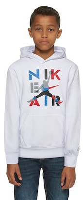 Jordan Legacy Retro 4 Hoodie Sweatshirt - White / Military Blue Red