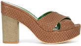 Danielapi embossed platform sandals