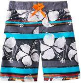 ZeroXposur Boys 4-7 Tropical Striped Swim Trunks
