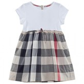Burberry White and Beige New Classic Check Dress