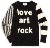 Autumn Cashmere Girl's Merino Wool & Cashmere Statement Graphic Sweater