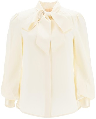 Tory Burch Satin Blouse With Bow
