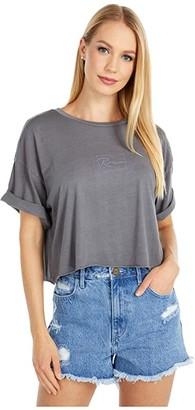 RVCA Flo Boyfriend Crop (Gunmetal) Women's Clothing