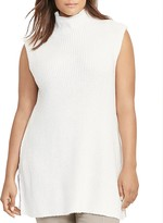 Lauren Ralph Lauren Plus Ribbed Sleeveless Sweater