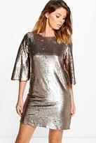 Boohoo Boutique Leila All Over Sequin Shift Dress