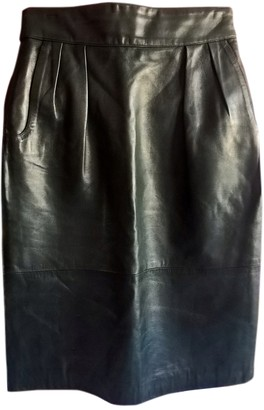 Hermes Green Leather Skirts