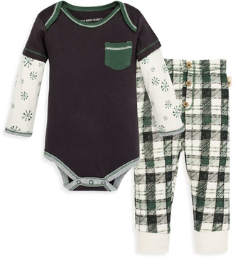 Burt's Bees Frosted Snowflakes Organic Baby Bodysuit & Pant Set