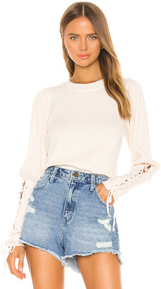Free People Tasha Thermal Tee
