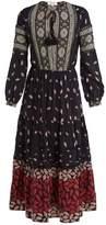 Sea Eloise printed silk midi dress