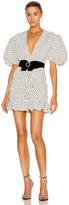 Marianna Senchina SENCHINA Eye Candy Mini Dress in Milky Black Polka Dot | FWRD