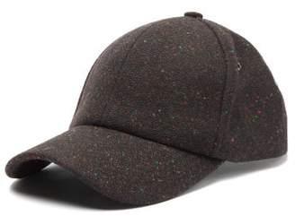 Paul Smith Speckled Wool Baseball Cap - Mens - Black