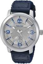 Timberland Men's 'PEMBROKE' Quartz Stainless Steel and Nylon Dress Watch, Color:Blue (Model: TBL15017JS61)
