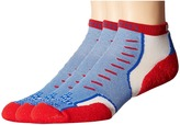 Thorlos Experia U.S.A. Mini Crew 3-Pair Pack Crew Cut Socks Shoes