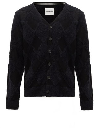 TAKAHIROMIYASHITA TheSoloist. Argyle Cotton-blend Cardigan - Black