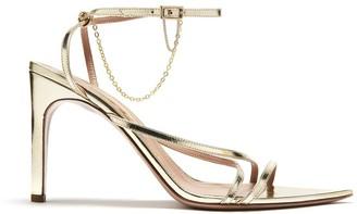 Oscar de la Renta Gold Asymmetric Sandals