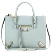 Balenciaga Mini Papier A4 Metallic Edge Leather Shoulder Bag