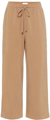 Vince Cropped cotton-jersey trackpants